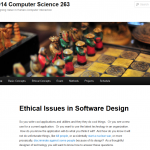 Ethical Issues in Software Design