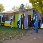 Painting the Warming House at Way Park