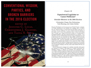 "Cover of ""Conventional Wisdom, Parties, and Broken Barriers in the 2016 Election"" book"
