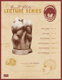 Poster for 2004 Arnold Flaten Memorial Lecture Series.