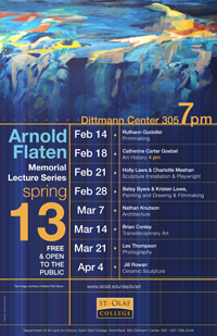 Poster for 2013 Arnold Flaten Memorial Lecture Series.