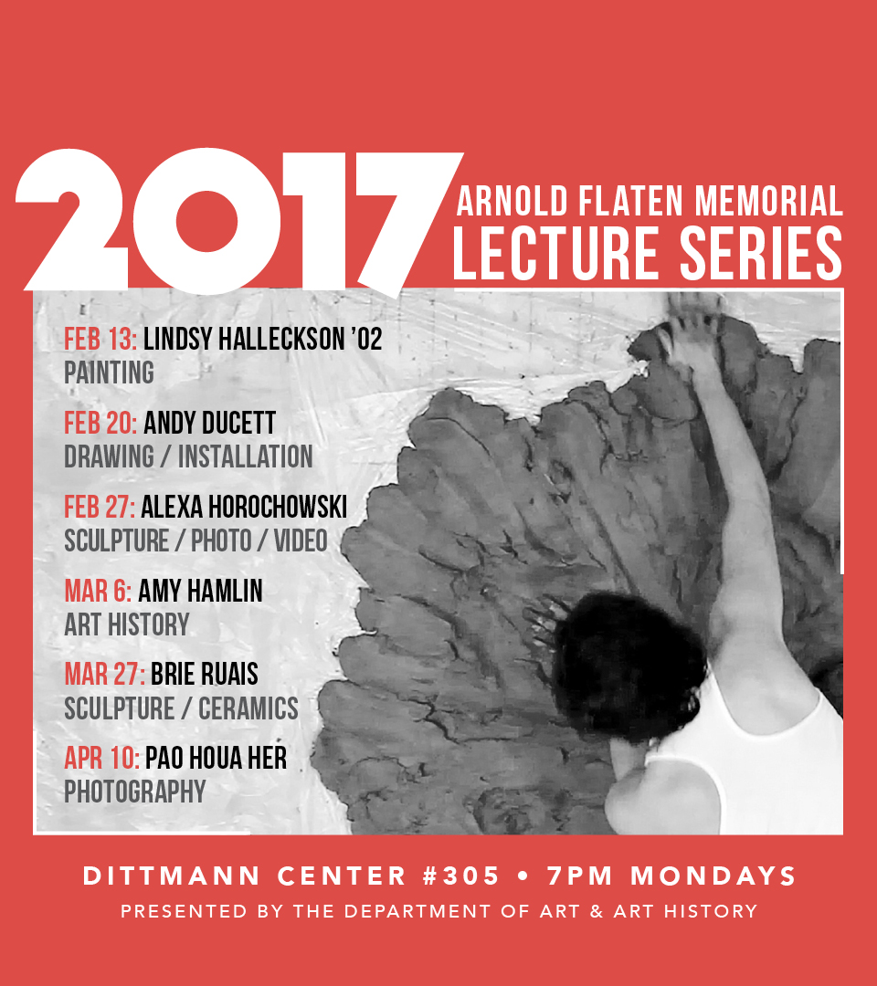 Poster for 2017 Arnold Flaten Memorial Lecture Series.