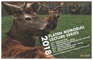 Poster for 2018 Flaten Memorial Lecture Series.