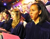 Members of the St. Olaf Choir perform during a recent St. Olaf Christmas Festival.
