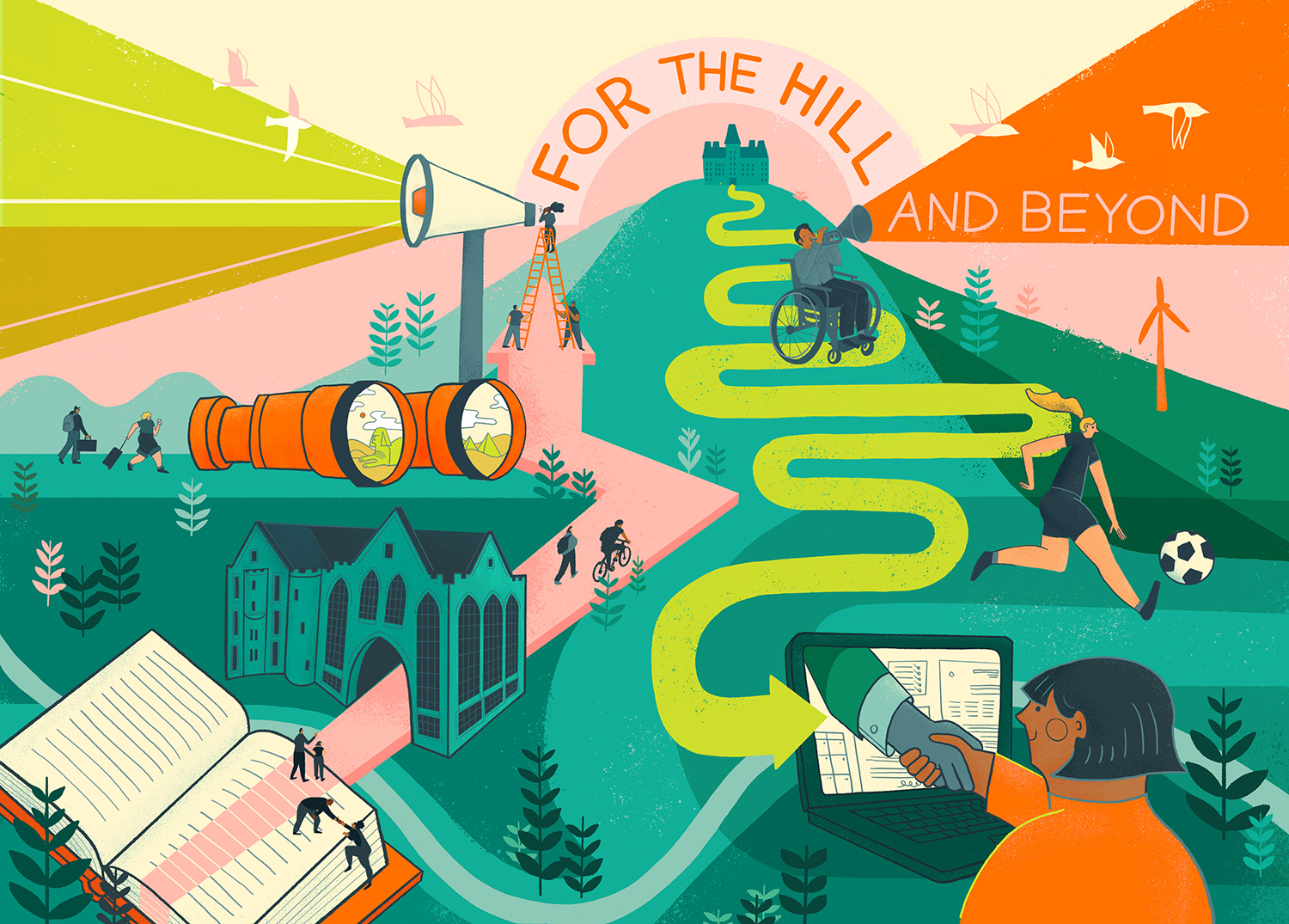 For the Hill and Beyond - Illustration by Julie Van Grol '08