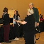 Faculty members at Technology Fair.