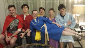 St. Olaf students wearing ancient attire at the national convention of Eta Sigma Phi (Classics honor society).