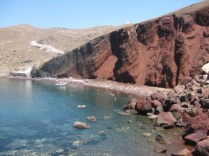 Santorini red beach Mays 2012