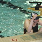 Swimmer at practice.