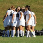 A group of St. Olaf Women's Soccer players