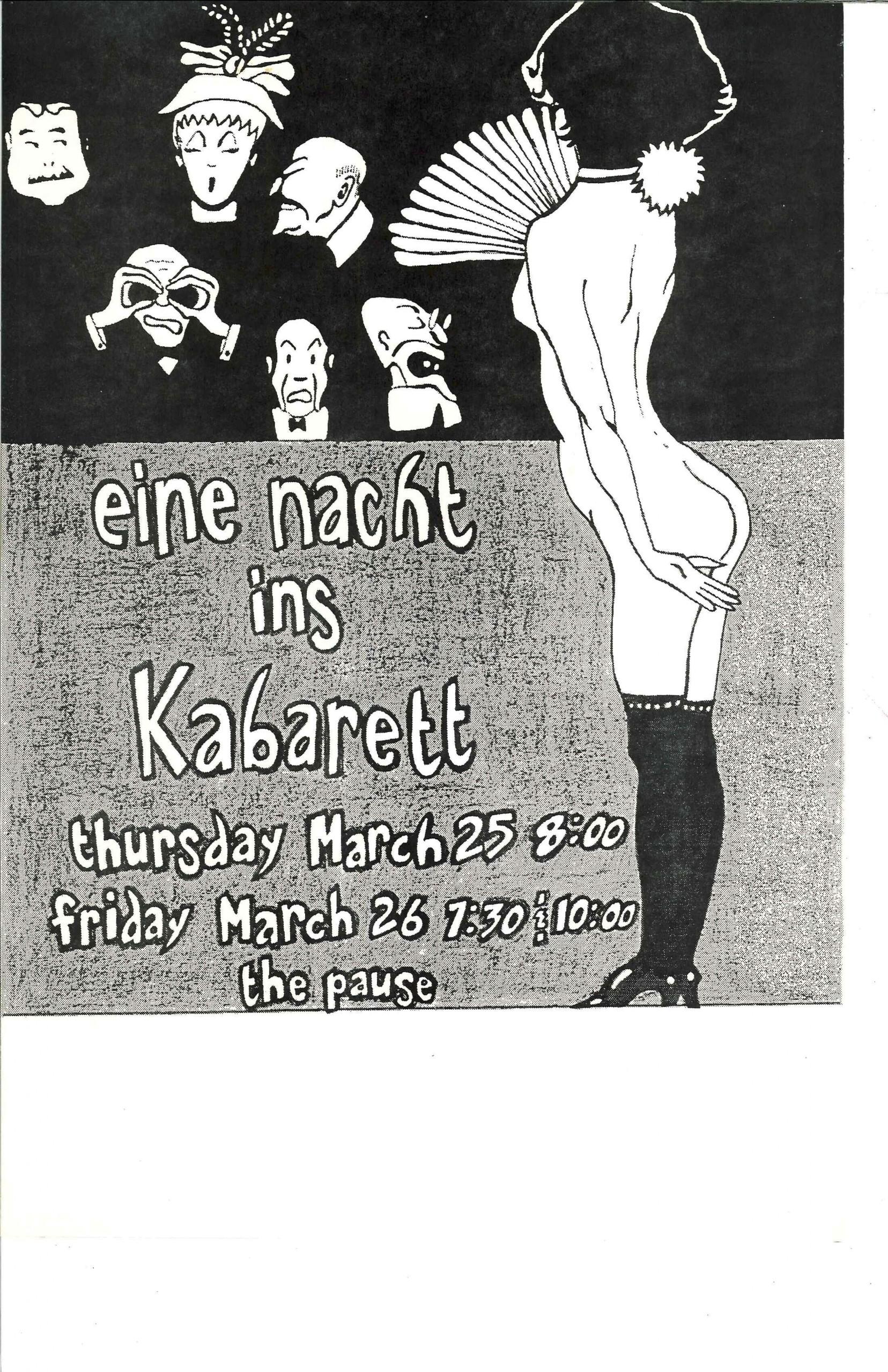 Eine Nacht ins Kabarett Poster-min