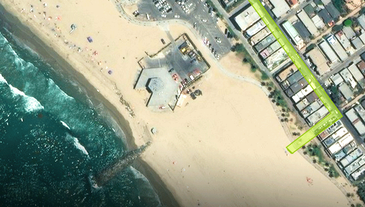 Aerial image of beach