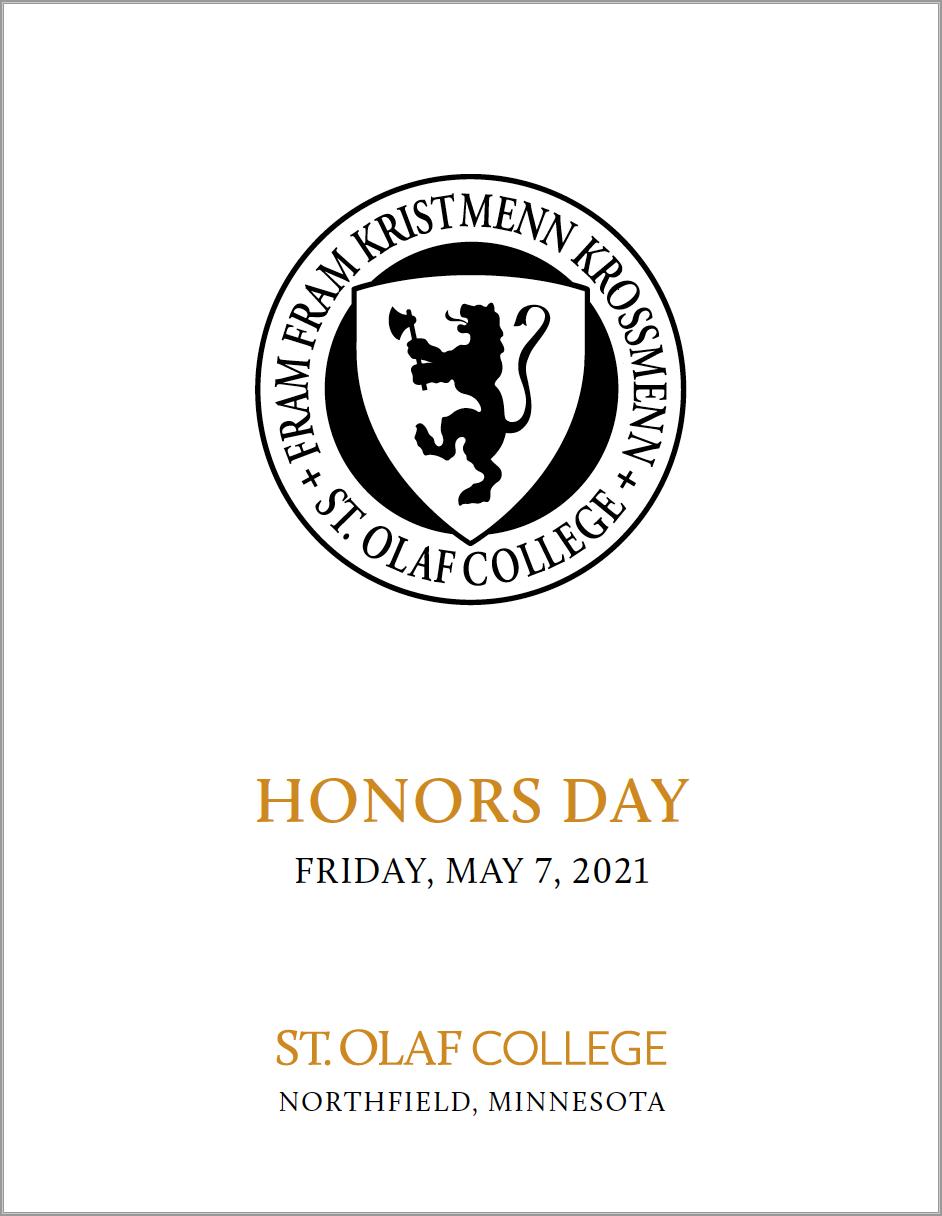 2021 Honors Day Program