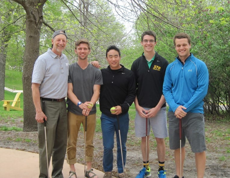 Team MEESH: Professor Steve Soderlind, Erik Gartland, Henry Scott, Mark Smith, and Mason Schweyen