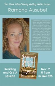 Poster for Ramona Ausubel book reading and Q & A.