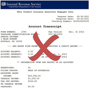 Tax Account Transcript
