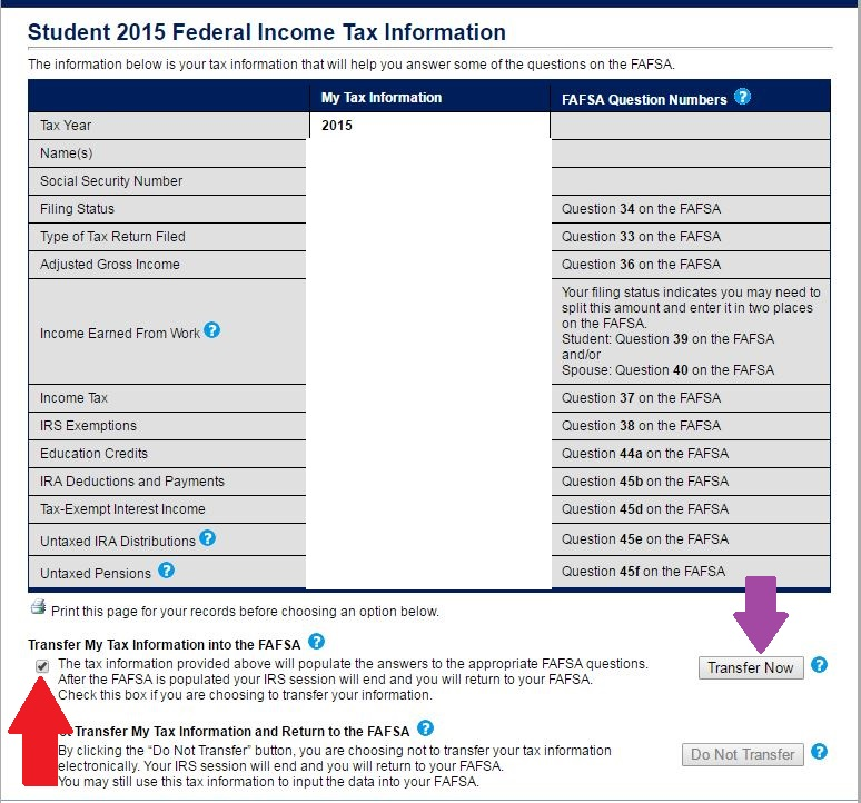 IRS Screen