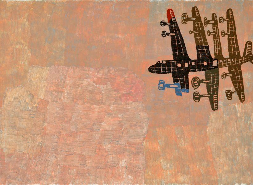 Neale (DC-6), 2018. Acrylic on canvas, 24_ x 36_