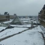 Snowy louvre