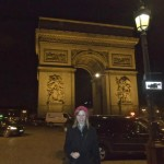 arc de triopmhe with Erika