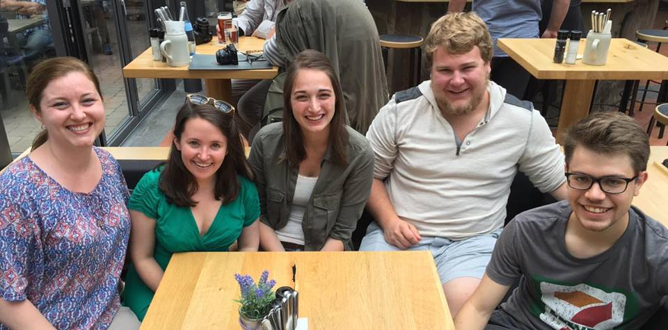 Prof. Randall and St. Olaf Students, Konstanz, June 2016