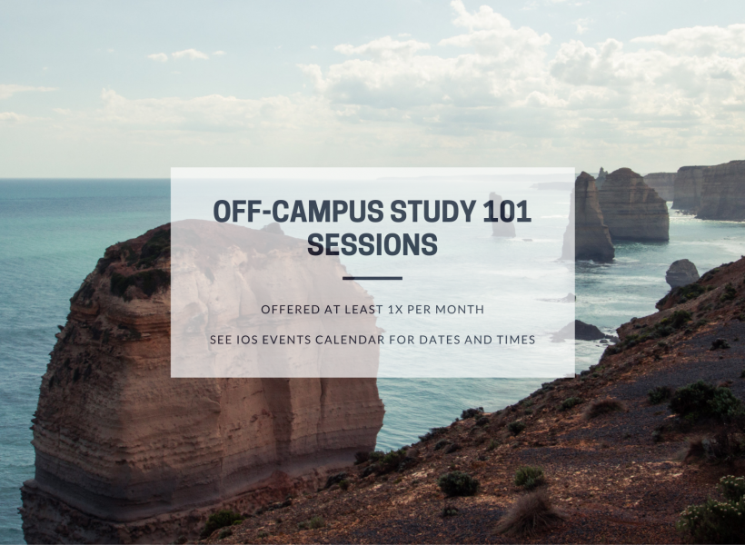 Off-Campus Study 101 Session