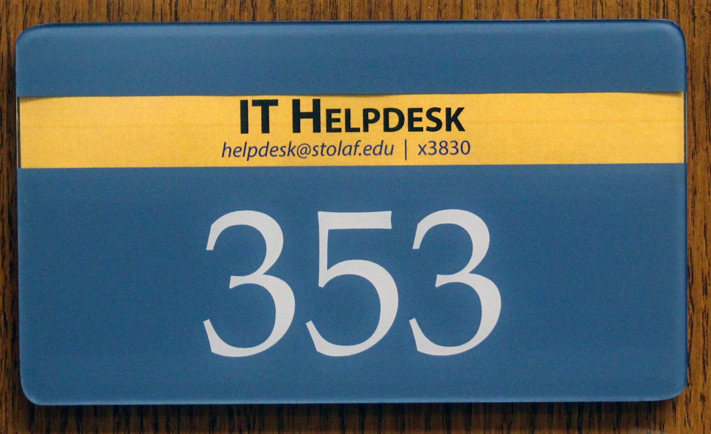 Helpdesk RML 353