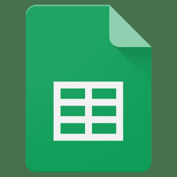 Google Sheets icon.