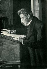 Kierkegaard at his desk