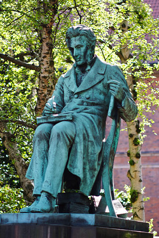 Statue of Kierkegaard at the Royal Danish Library