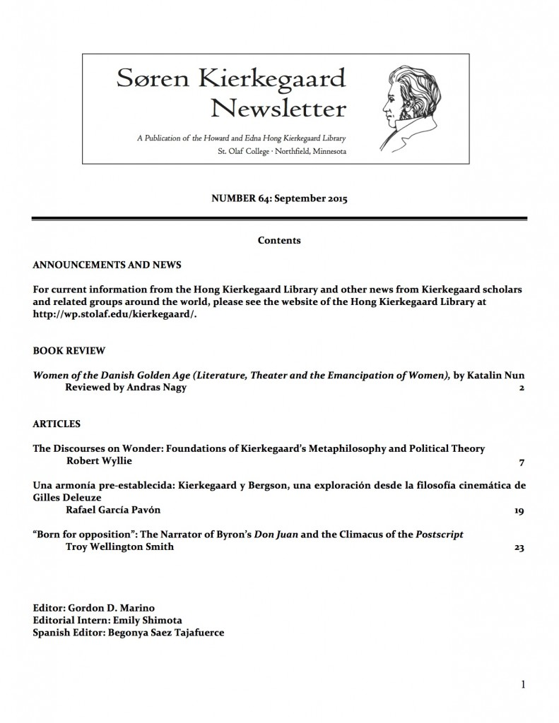 Current Newsletter Front Page