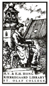 The Kierkegaard Library Bookplate design by Jonathan Stenseth '94