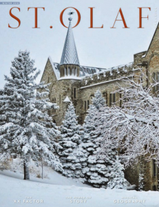 Select this cover image that shows Holland Hall in winter to go to the online version of the magazine.