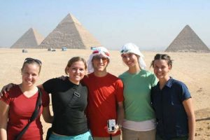 Students in Egypt, Fall 2005.