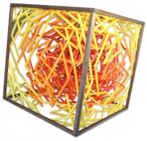 """Synergy,"" a sculpture by Professor Emeritus of Mathematics Loren Larson."