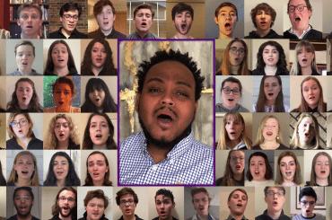 St. Olaf Choir performing