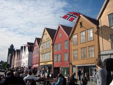 Wharf in Bergen