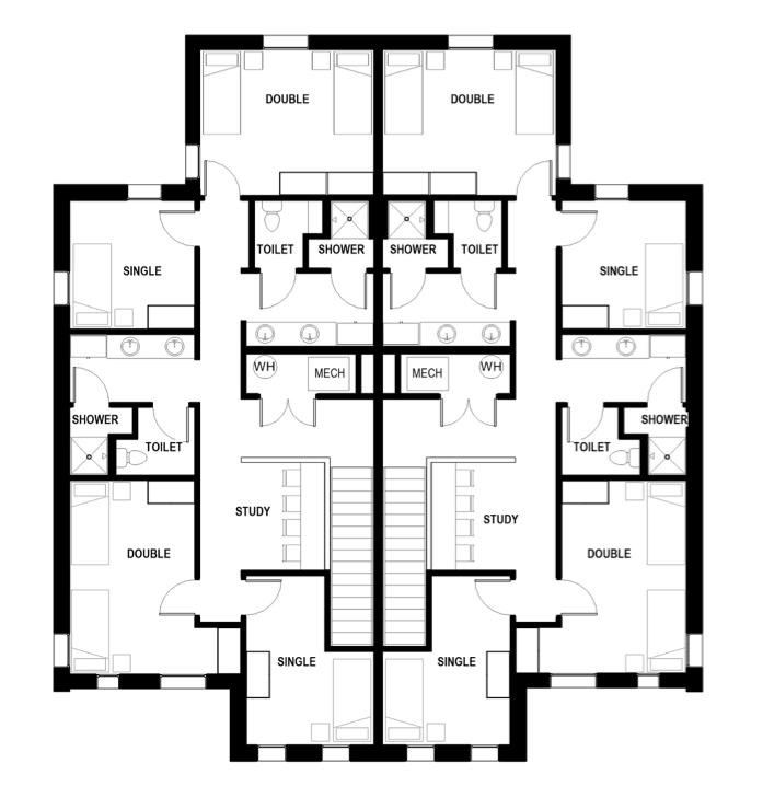 St. Olaf - Duplex Town House Layout - 2nd Floor
