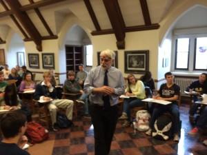 Gordon Marino teaching Kirkegaard and death