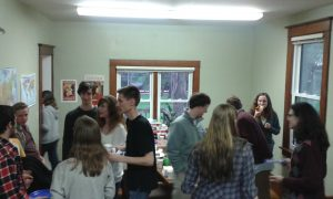 Student gathering at the Russian House.