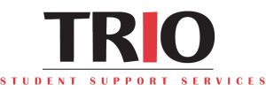 """logo that says """"trio student support services"""""""