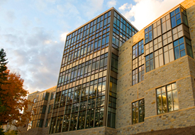"Regents Hall's use of natural light and its ""green roof"" help reduce energy consumption."