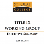 an image of the first page of the Title IX Working Group Executive summary