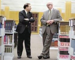 St. Olaf President David R. Anderson '74 and Carleton President Steven Poskanzer