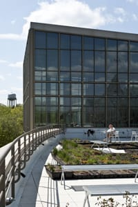 "Regents Hall's rooftop garden is one of the features noted in a new book highlighting ""the world's greenest buildings."""