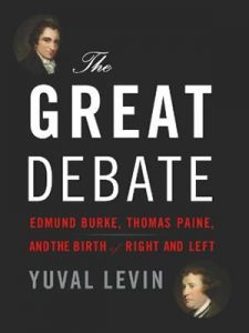 """Students in the Political Affairs Conversation read """"The Great Debate"""" and contrasted the approaches of Edmund Burke and Thomas Paine."""